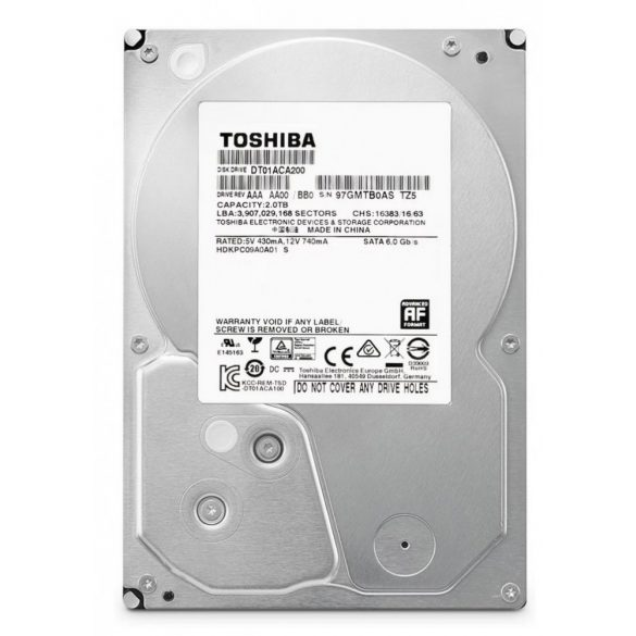 Merevlemez 2TB (Toshiba/WD/Seagate)